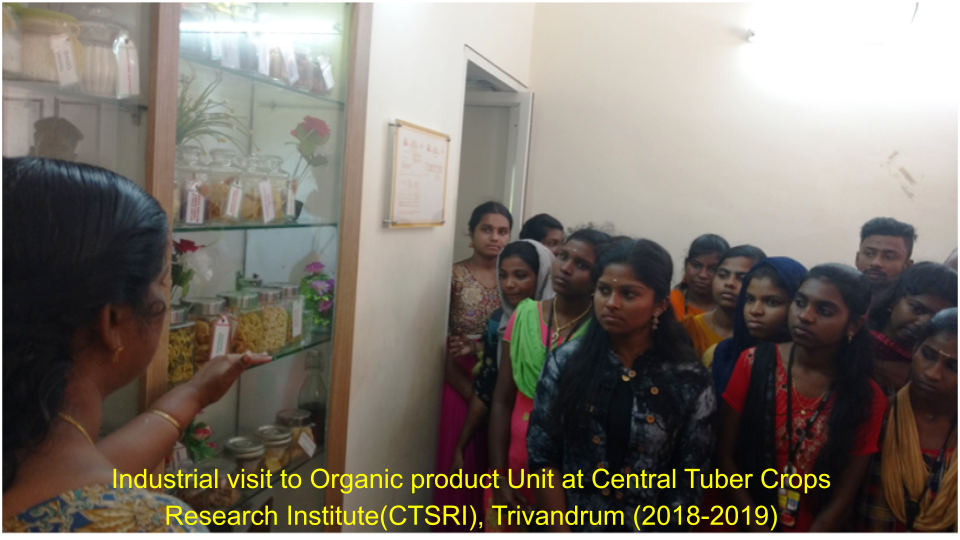Industrial visit to Organic product Unit at Central Tuber Crops Research Institute(CTSRI), Trivandrum (2018-2019)